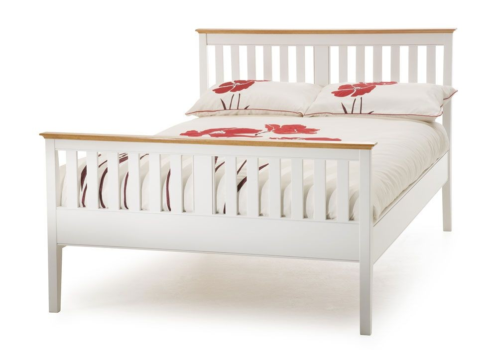 Gracie Opal White High Foot Three Quarter Bed Frame