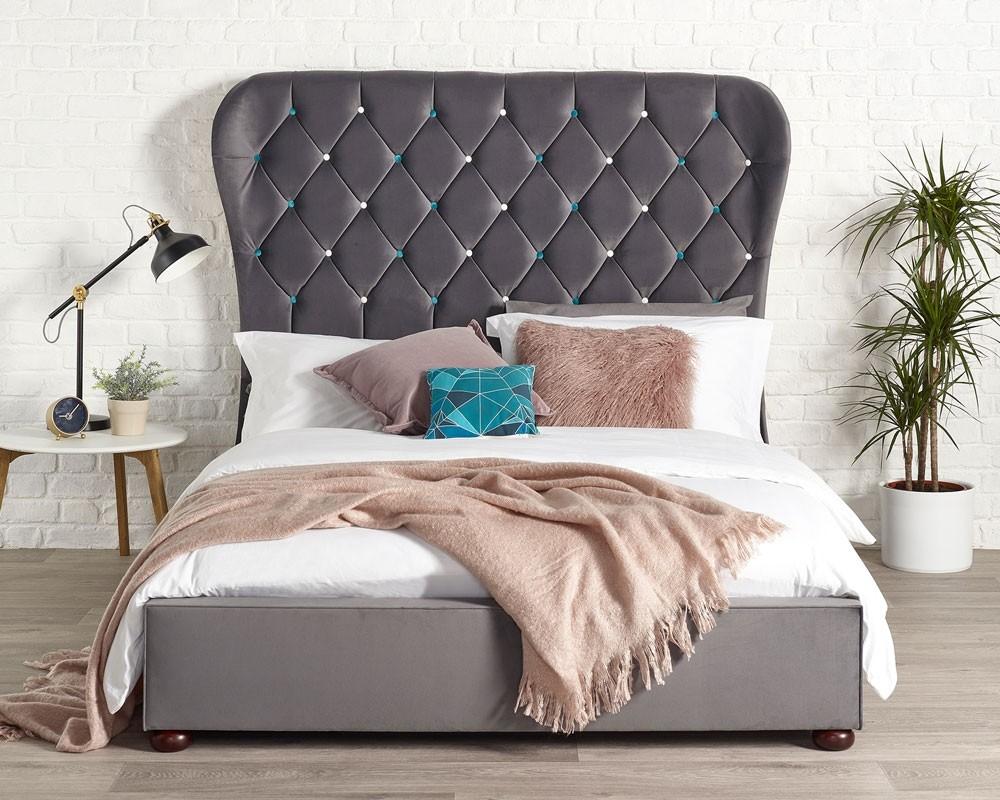Zak Grey Bed Frame