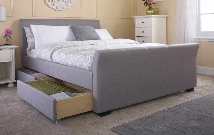 Hannah Grey 4 Drawer Bed Frame