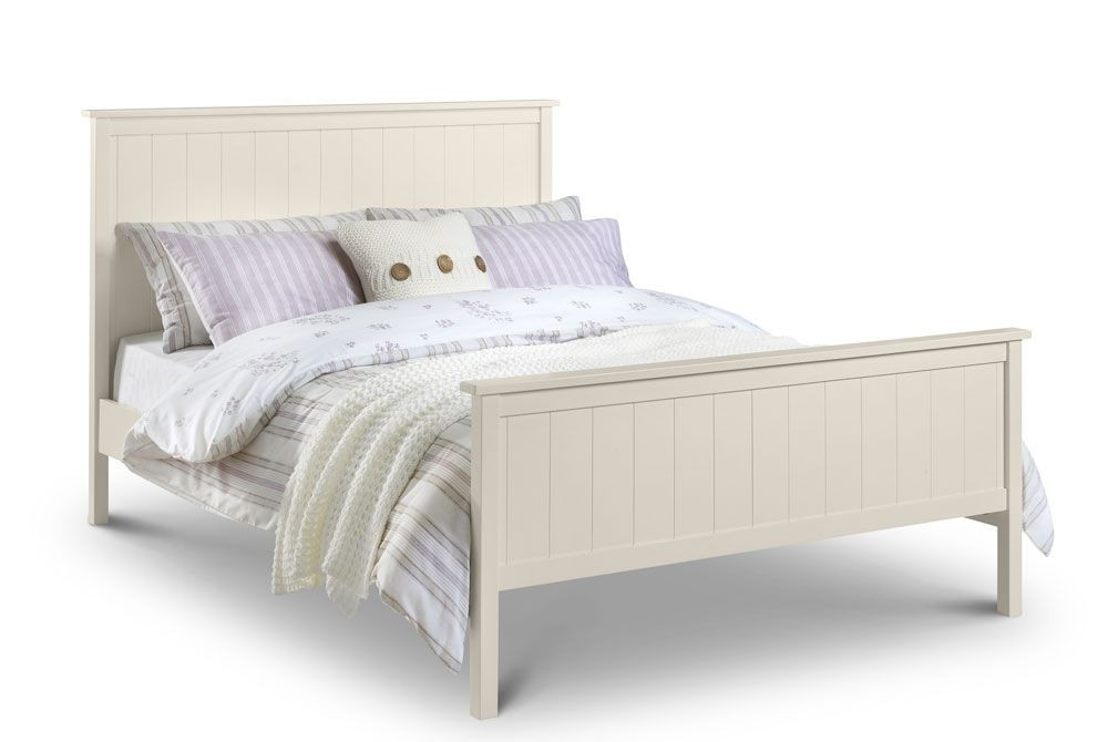 Harmonise Stone White Double Bed Frame