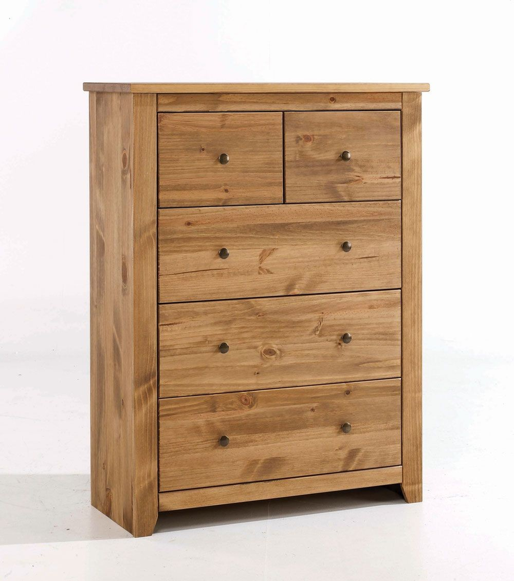 Havana Rustic Pine 3+2 Drawer Chest