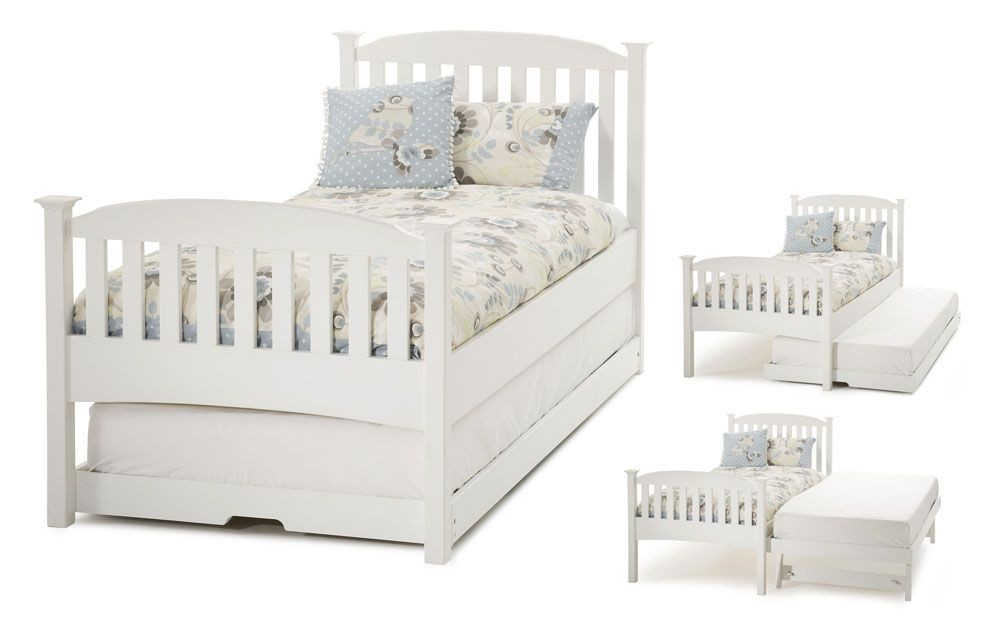 Helena High End Opal White Guest Bed Frame