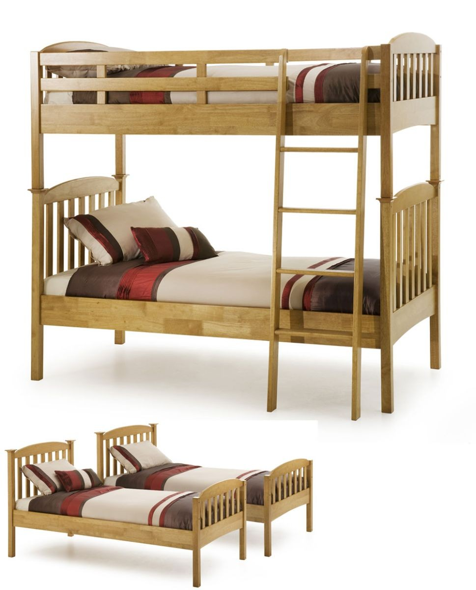 Helena Honey Oak Bunk Bed