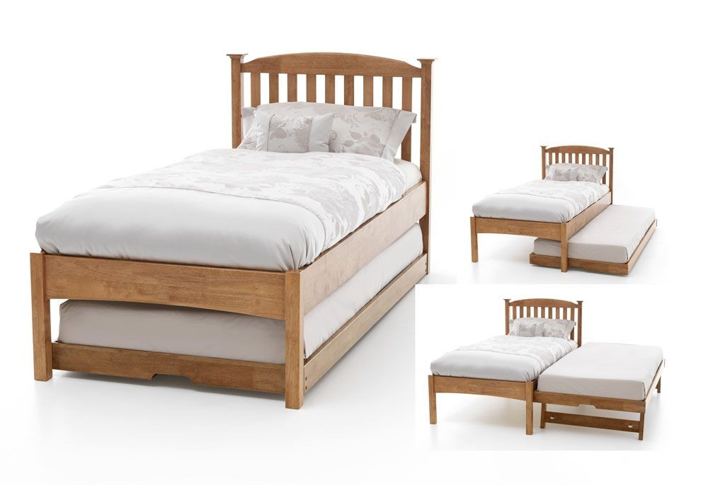 Helena Low End Honey Oak Guest Bed Frame