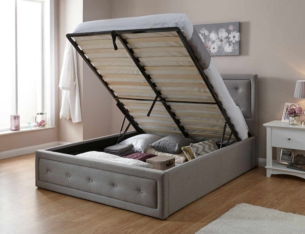 Holly Hopsack Storage Bed Frame