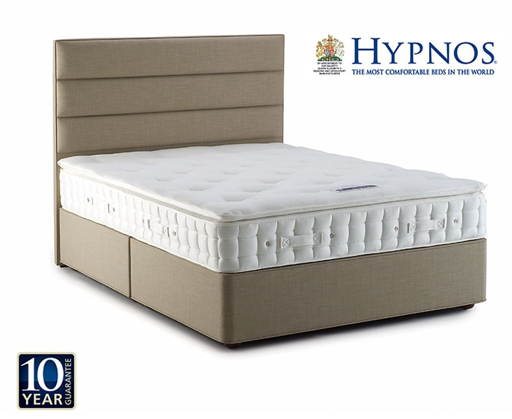 Hypnos emerald pillow top kingsize sprung base divan bed for Best divan beds
