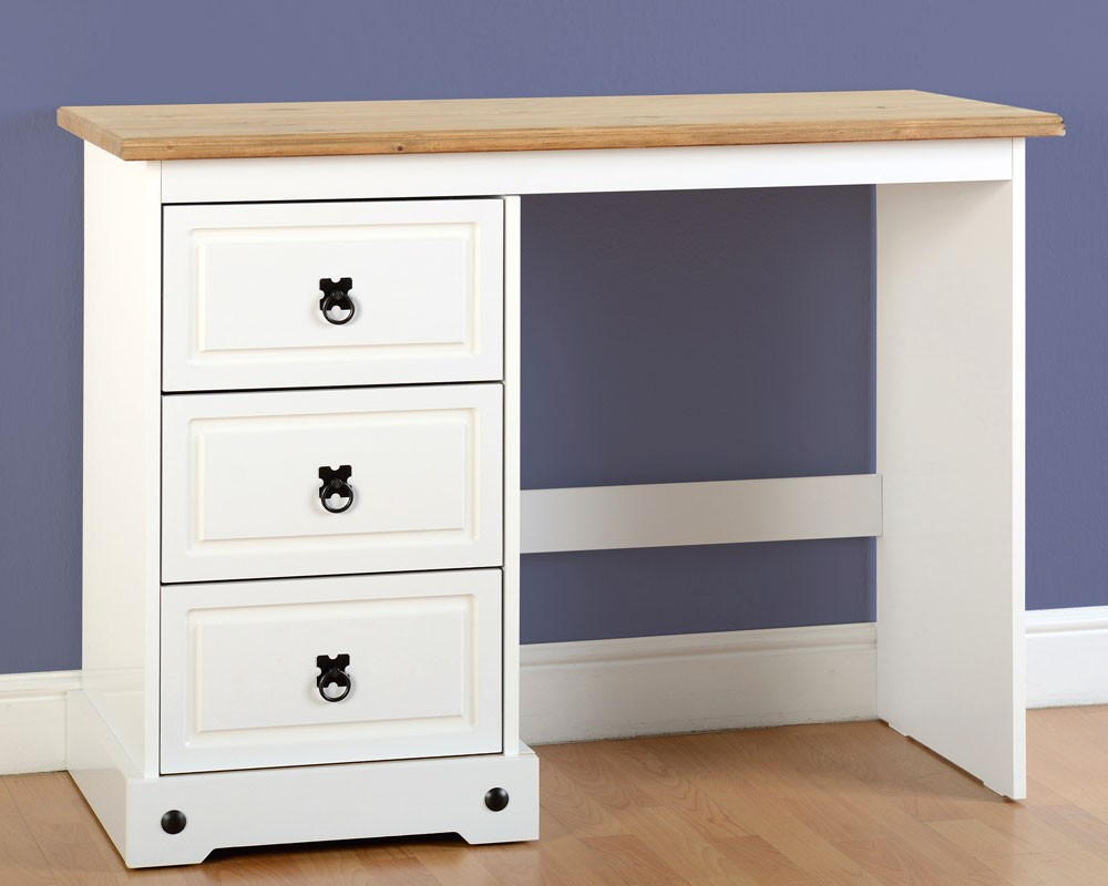 Corona White 3 Drawer Dressing Table