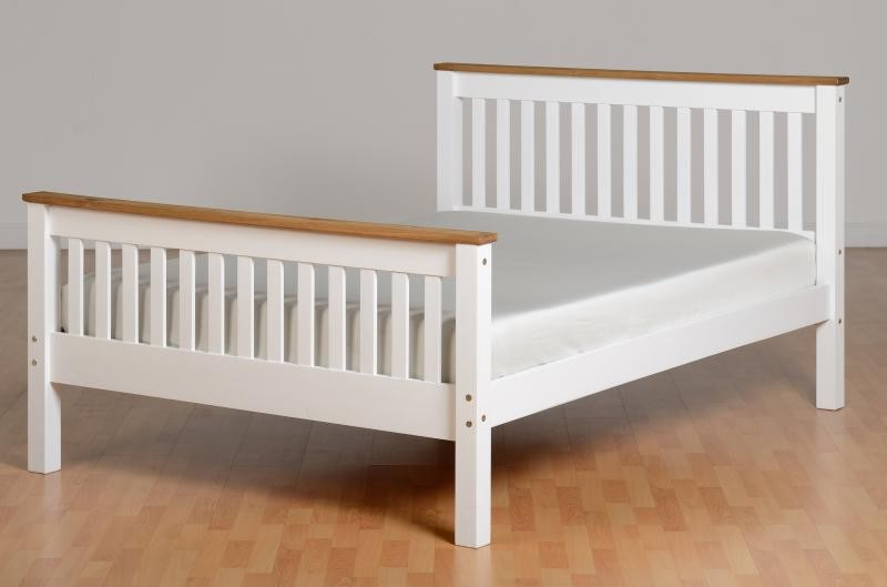 Monty Two Tone High Foot Double Bed Frame