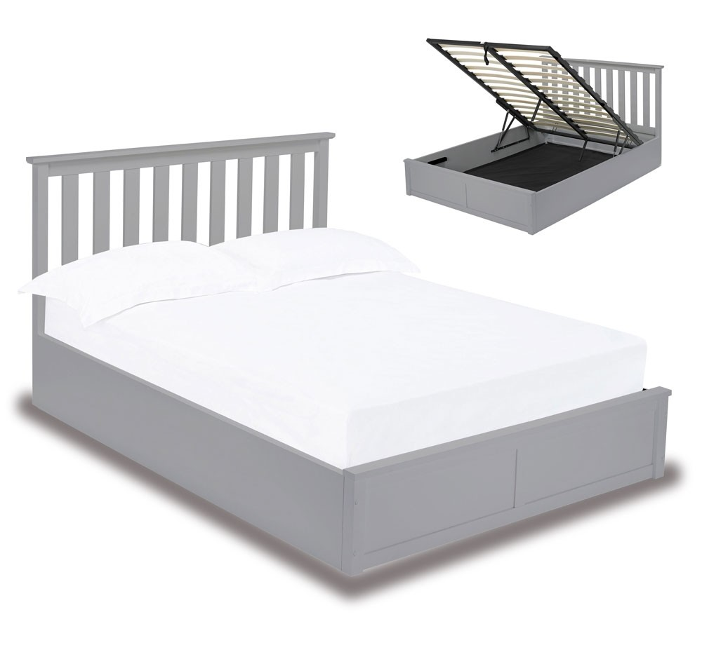 Orton Grey Ottoman Bed Frame