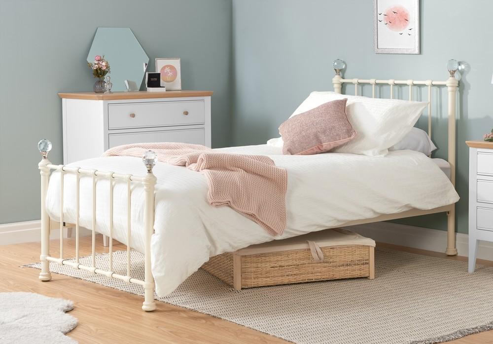 Jessie Cream Single Bed Frame