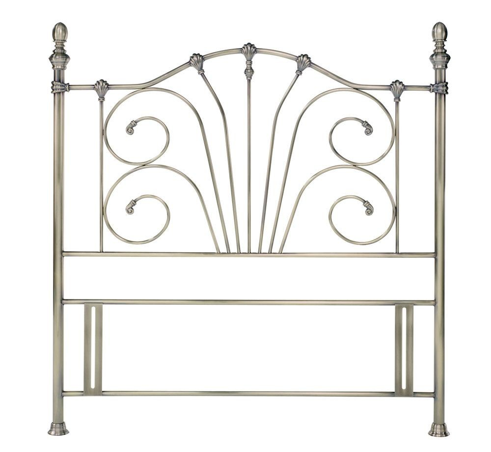 Jessica Antique Brass Kingsize Headboard