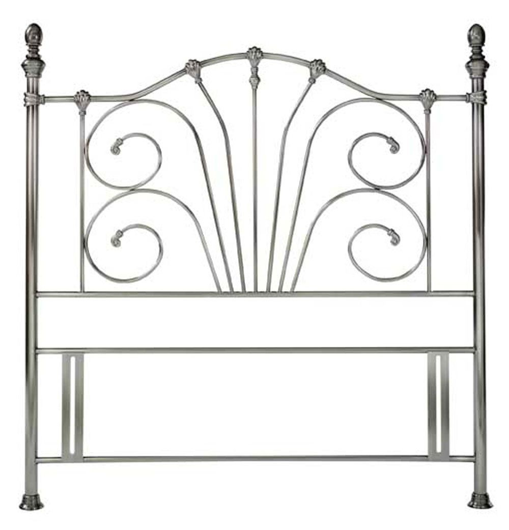 Jessica Antique Nickel Kingsize Headboard