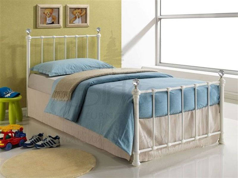 Jessie Cream Single Bed Frame
