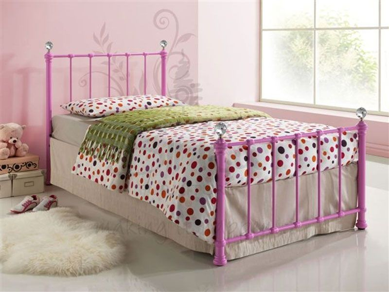 Jessie Pink Single Bed Frame
