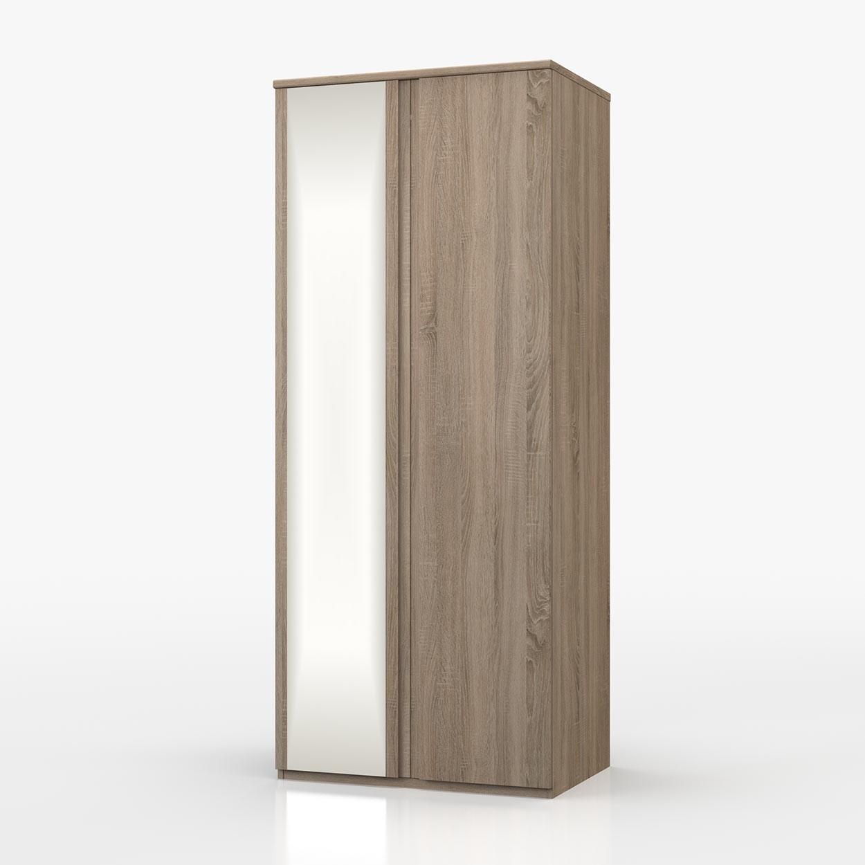 Avenue Truffle Oak 2 Door Wardrobe With Mirror