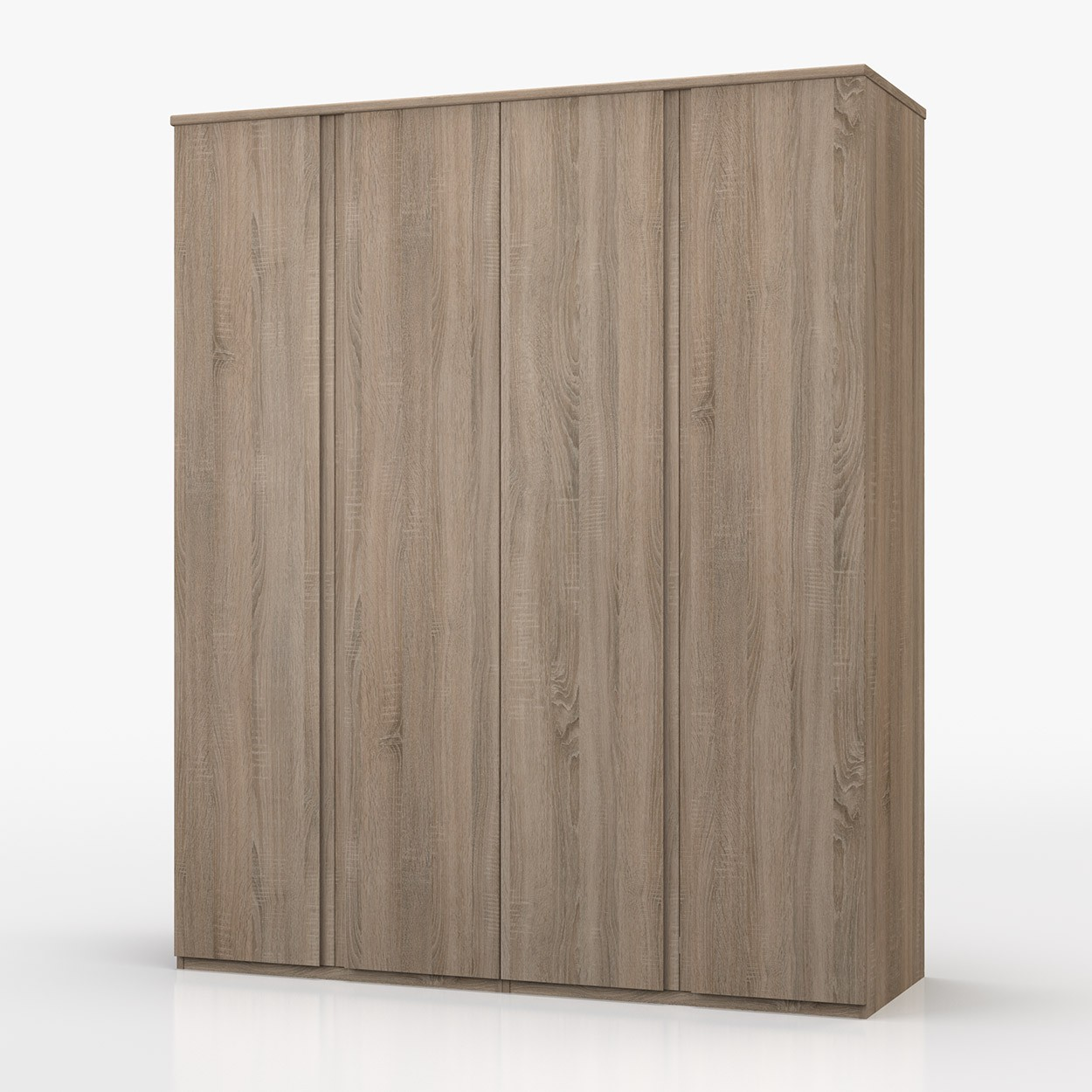 Avenue Truffle Oak 4 Door Wardrobe