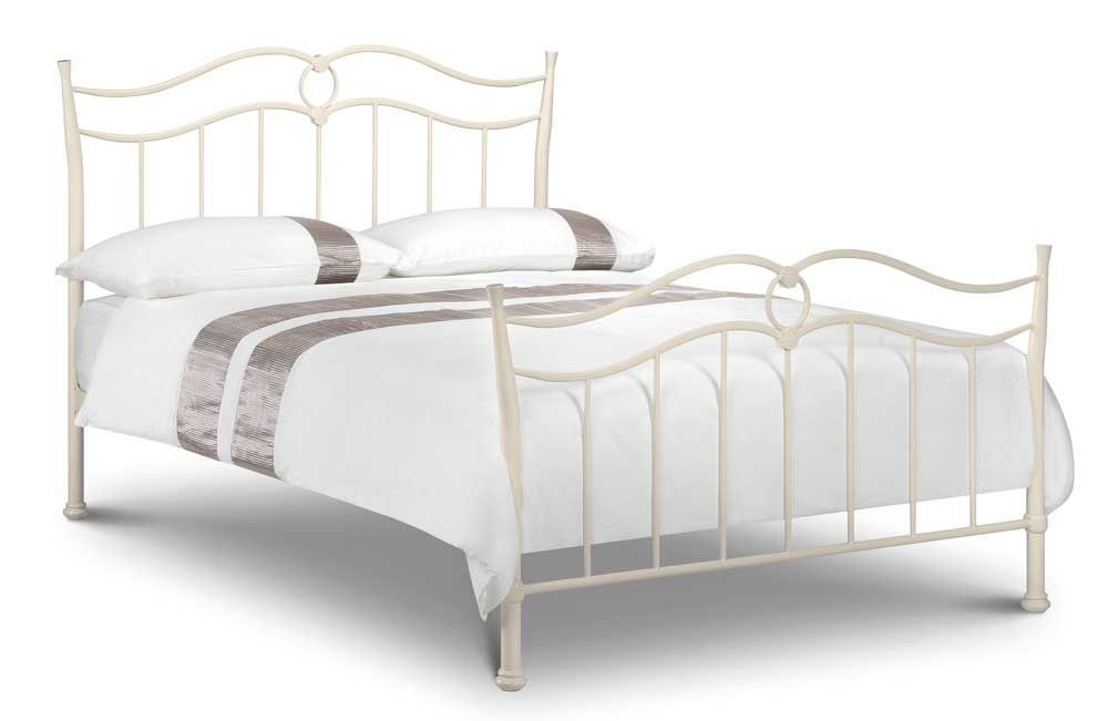 Katrina Stone White Kingsize Bed Frame
