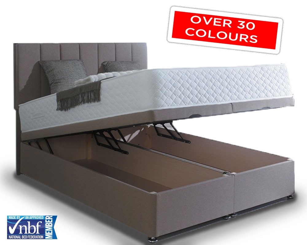 Super Kingsize End Lift Ottoman Storage Base