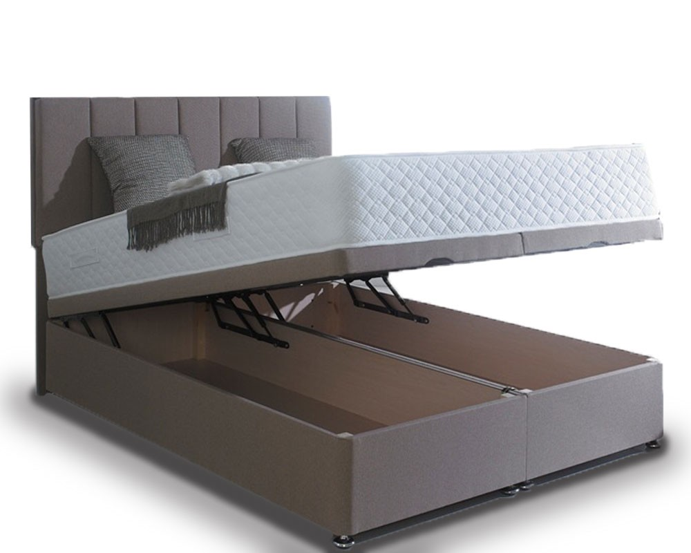 Superior three quarter 3 4 ottoman end lift storage Three quarter divan bed