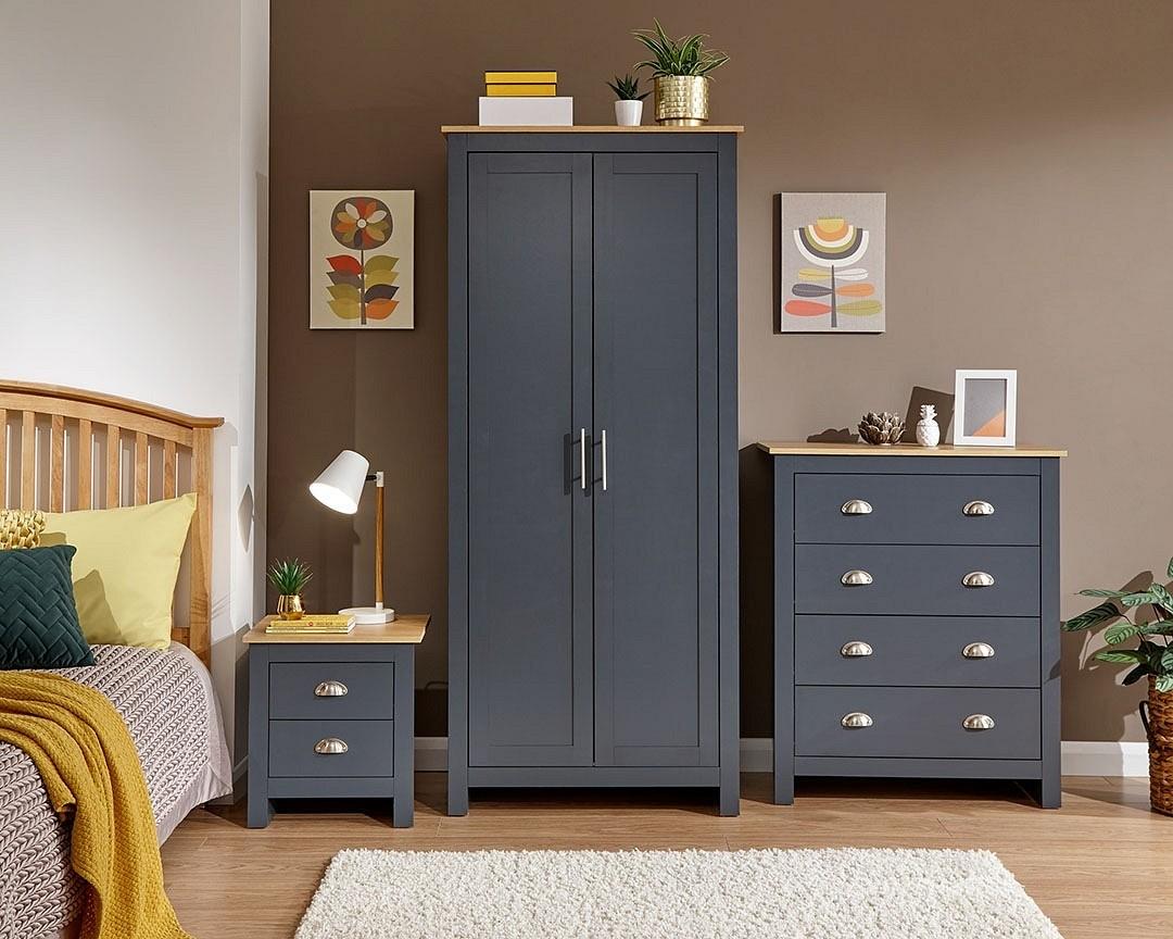 Lancashire Slate 3 Piece Bedroom Furniture Set