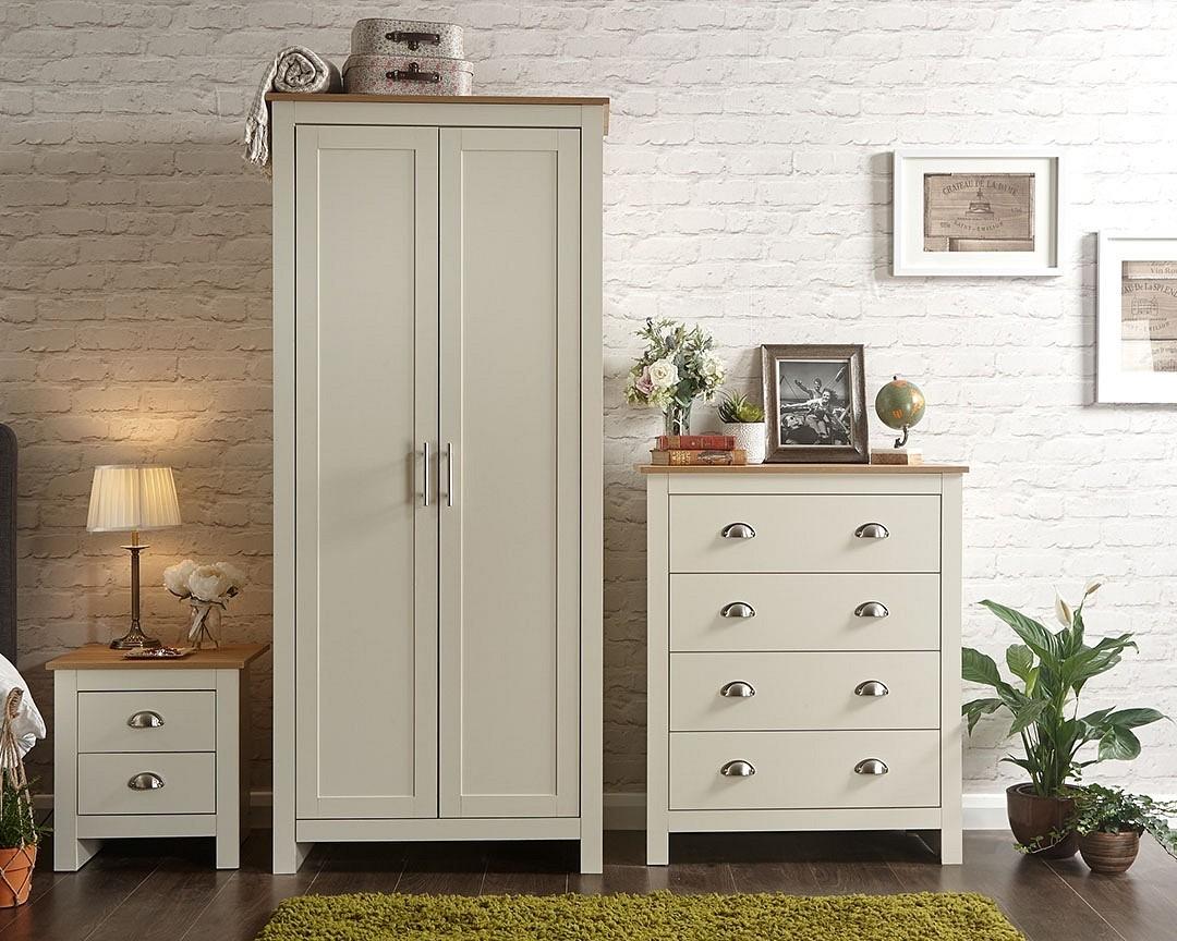 Lancashire Cream 3 Piece Bedroom Furniture Set
