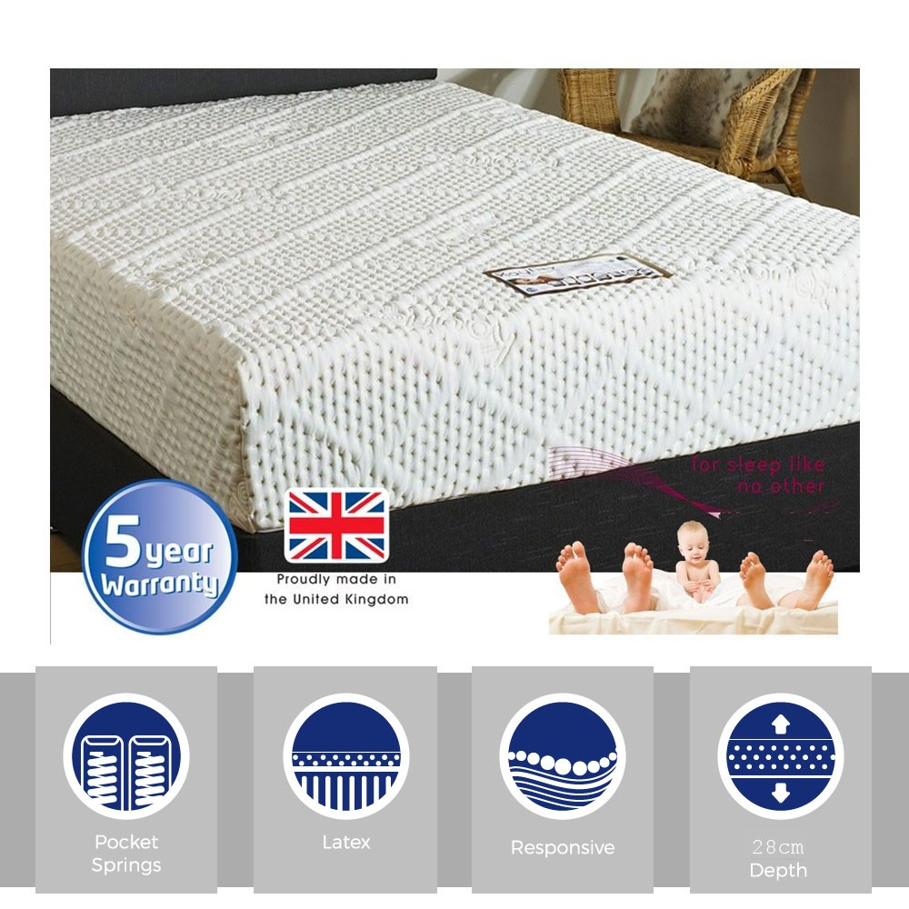 Latex & Pocket Pearl Double Mattress