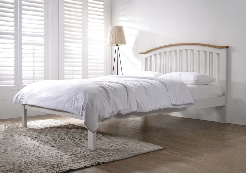 Leigh Grey And Oak Bed Frame