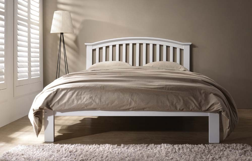 Leigh White Bed Frame