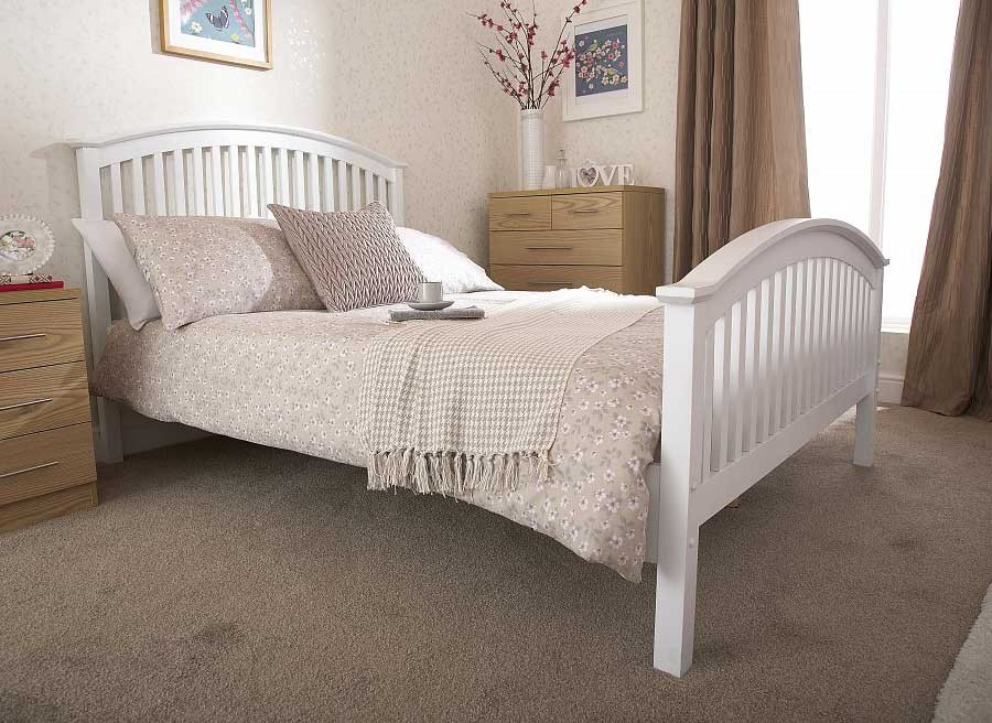 Madrillo White High Foot Bed Frame
