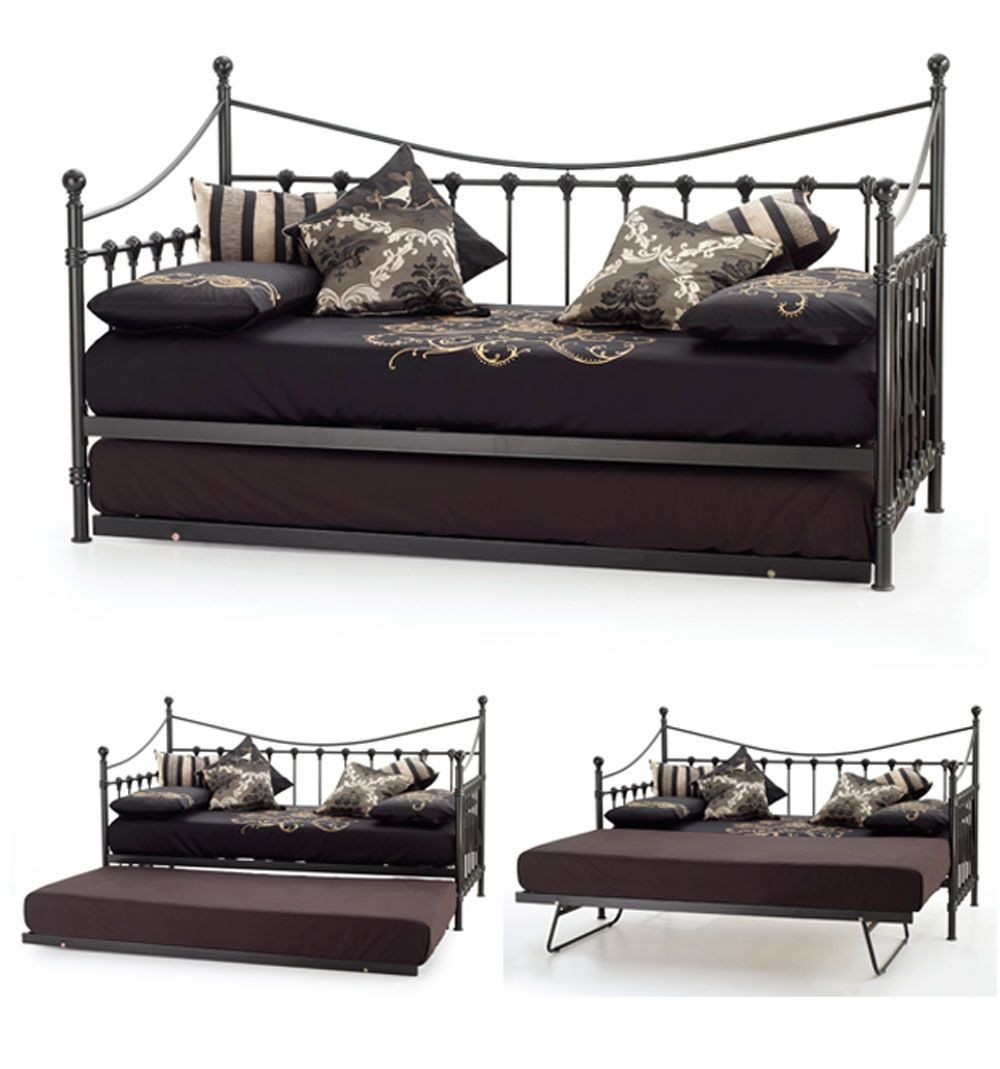 Marseilles Black Day Bed With Visitor Frame