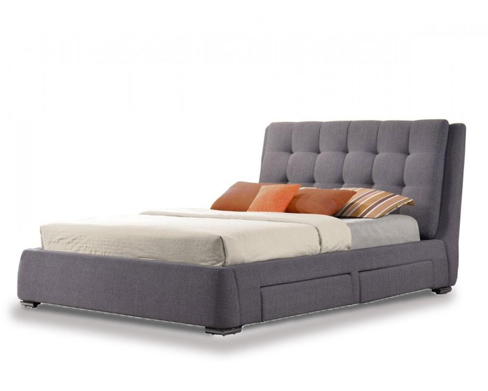 May Grey Storage Bed Frame