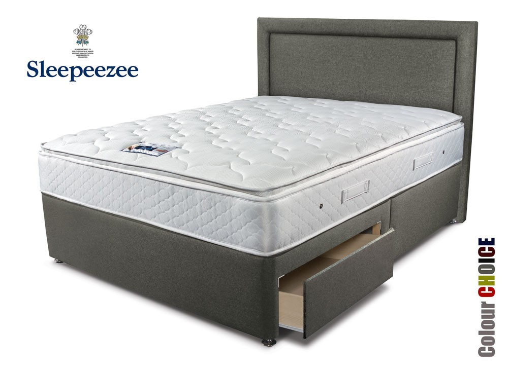Sleepeezee memory comfort 1000 single divan bed for Best single divan beds