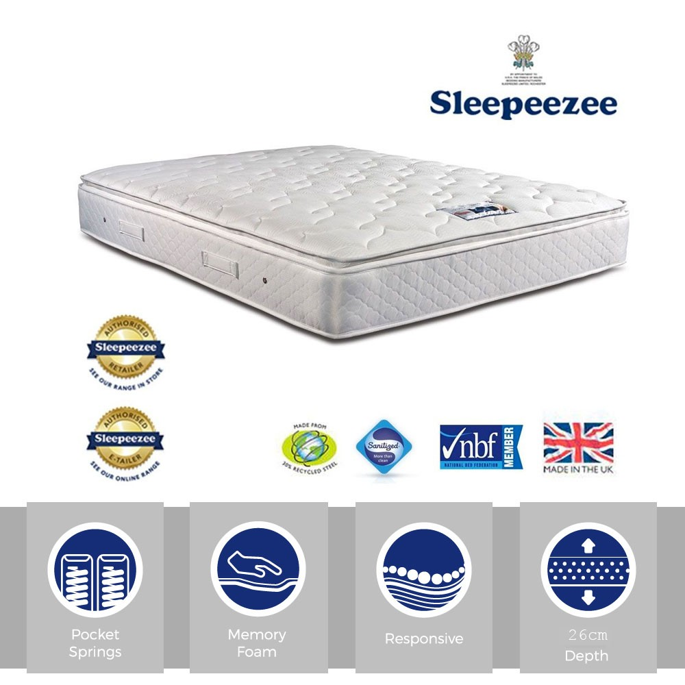 Sleepeezee Memory Comfort 1000 Three Quarter Mattress