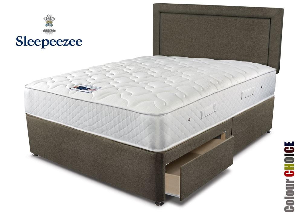 3 Quarter Bed Mattress Topper : Sleepeezee memory comfort three quarter divan bed