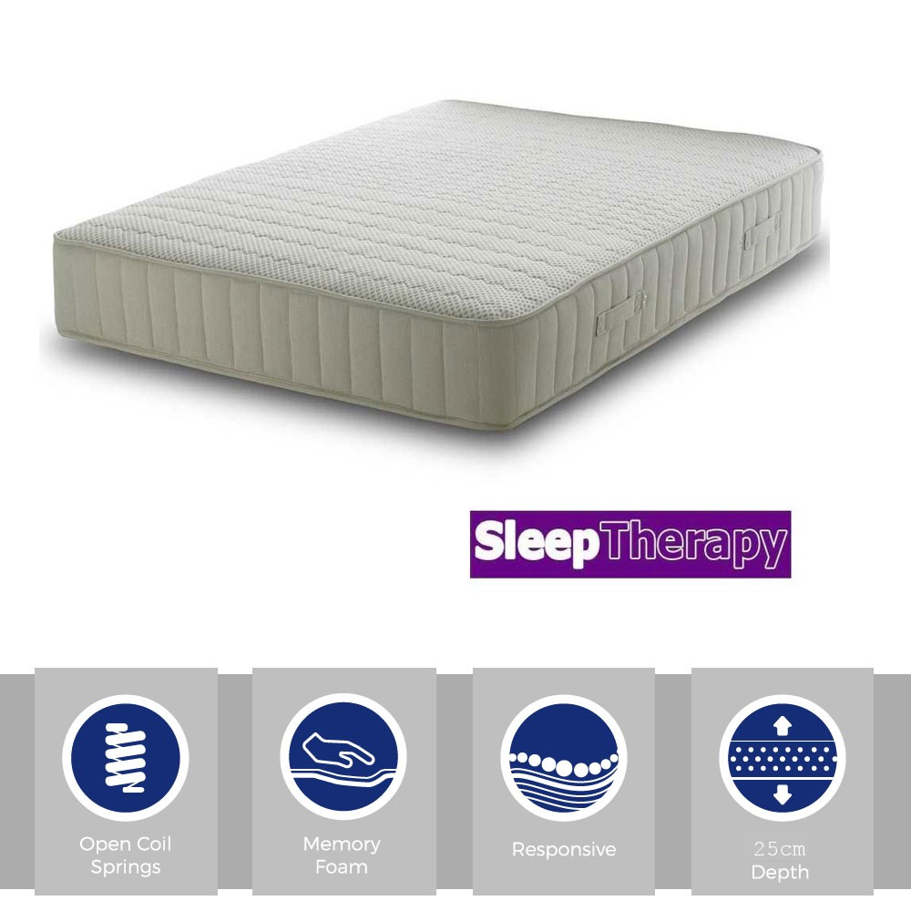 Sleeping Therapy Memory React Three Quarter Mattress