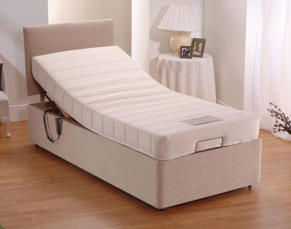 Memory Foam Adjustable Single Divan Bed
