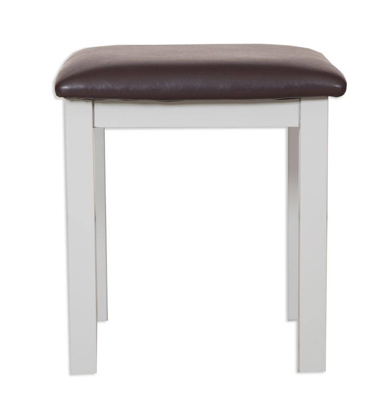 Melrose Grey Dressing Stool