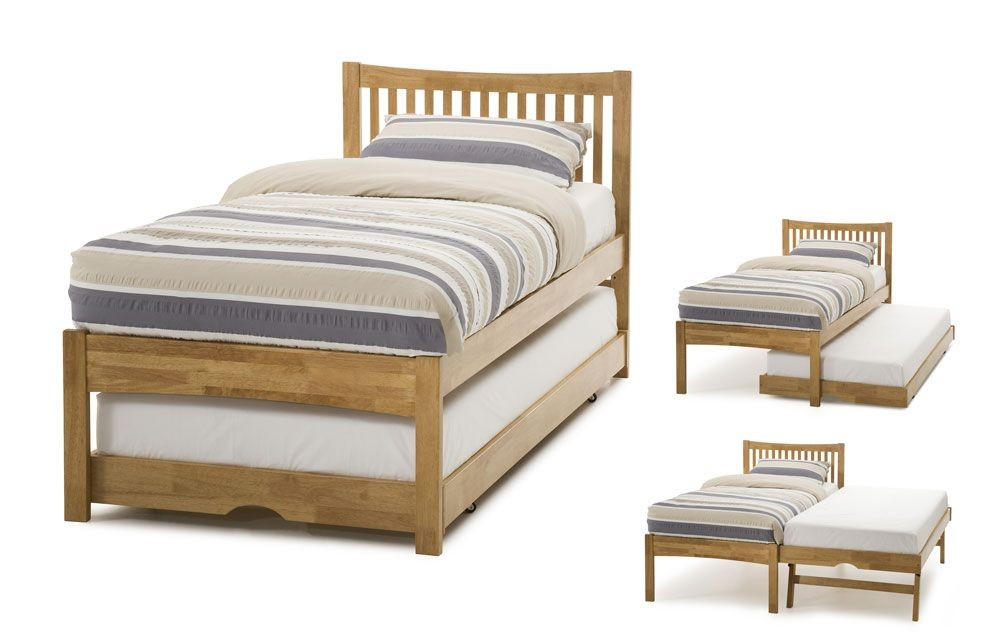 Mia Honey Oak Guest Bed Frame