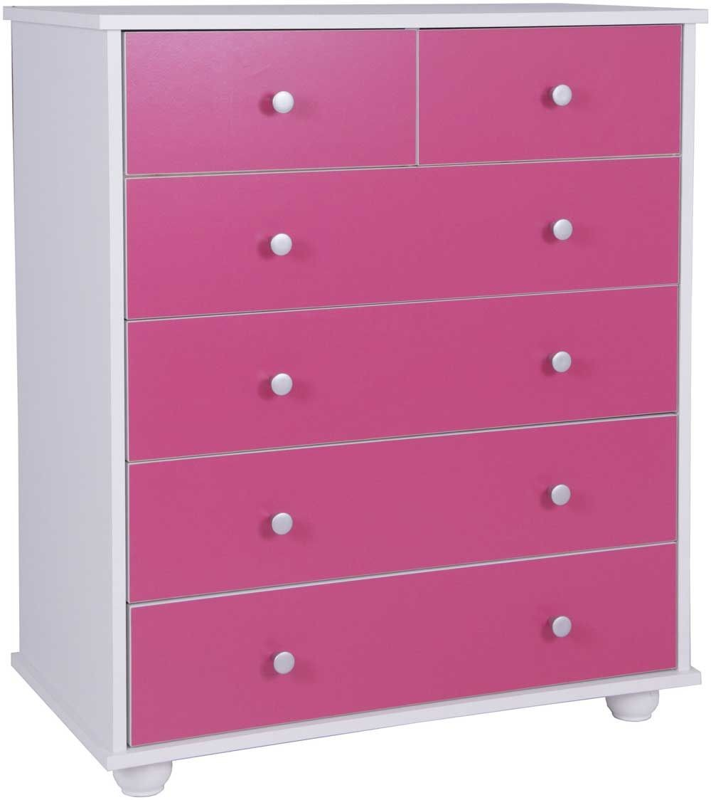 Miami Pink 4+2 Drawer Chest