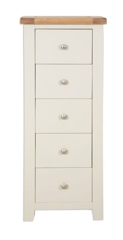 Melrose Grey 5 Drawer Tall Chest