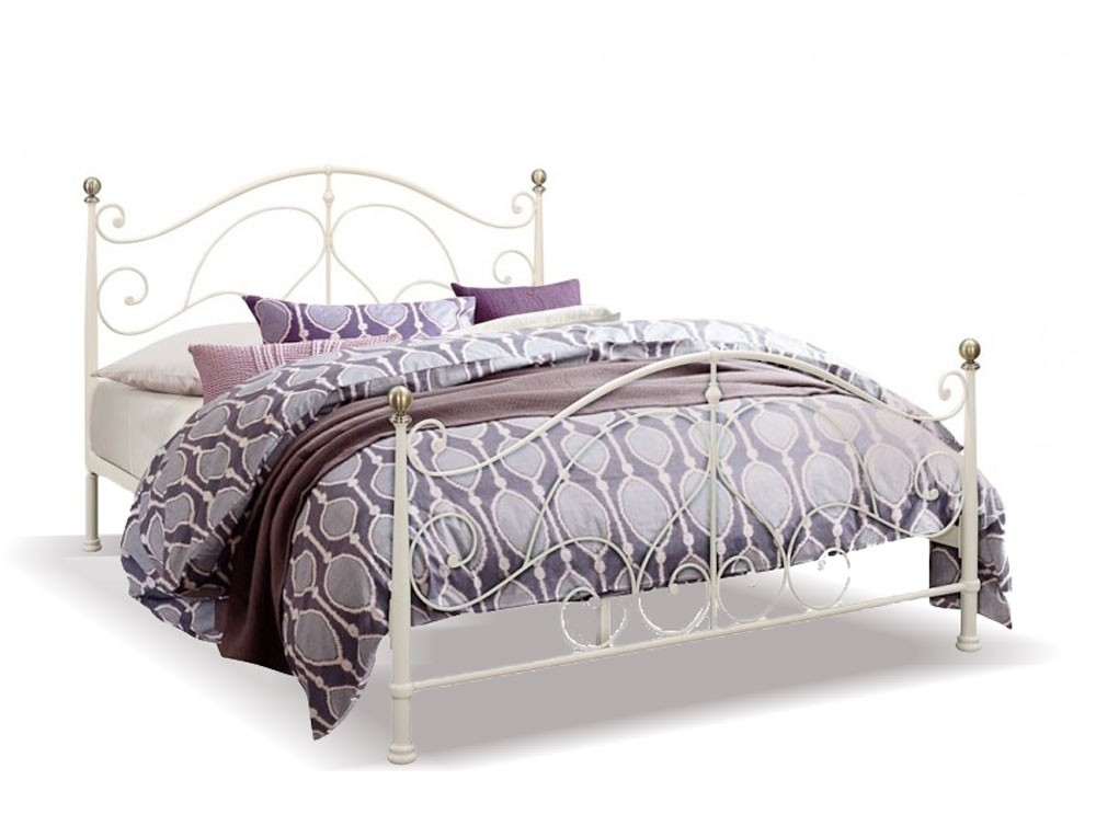 Romano Cream Double Bed Frame