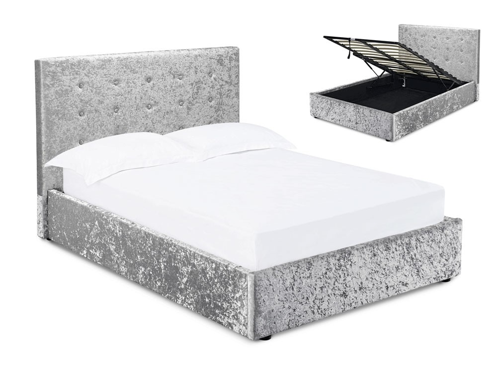 Phenomenal Mint Silver Velvet King Size Ottoman Bed Frame Ibusinesslaw Wood Chair Design Ideas Ibusinesslaworg