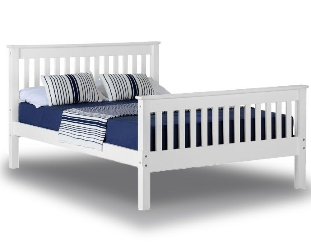 Monty White High Foot Double Bed Frame