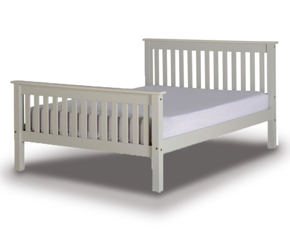 Monty Grey High Foot Bed Frame