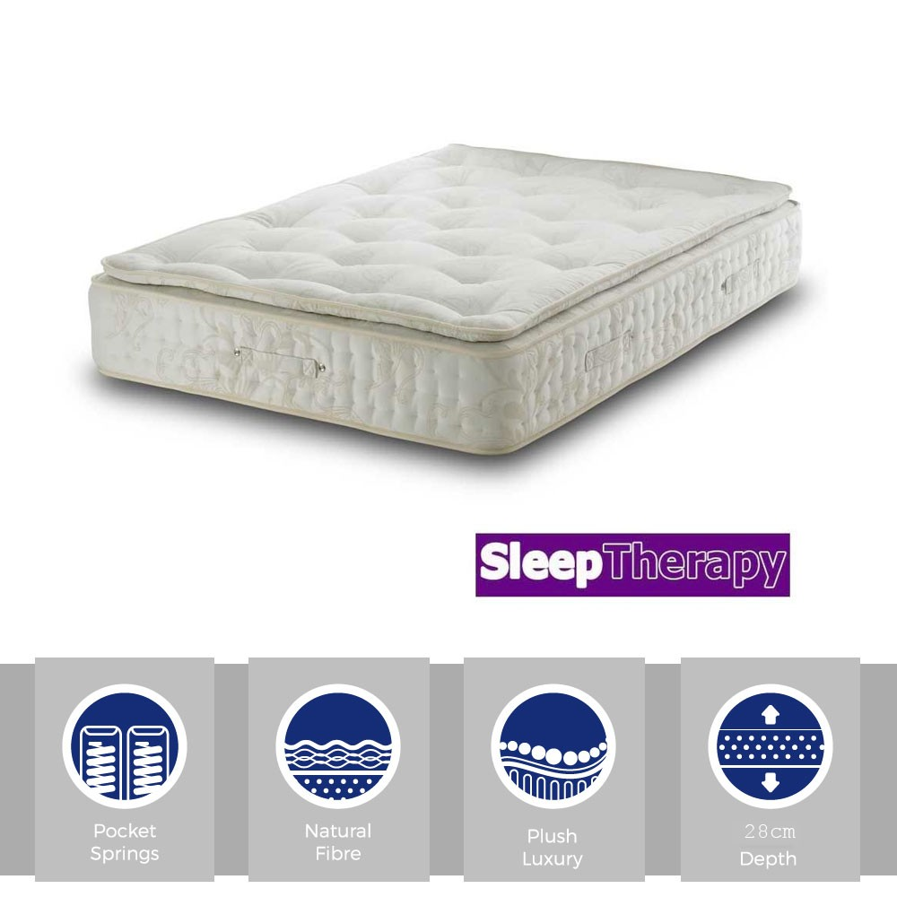Natural Sleep Pillow Pocket 2000 Super Kingsize Mattress