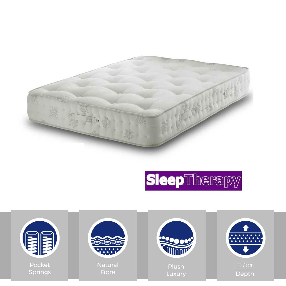 Natural Sleep Pocket 1400 Three Quarter Mattress