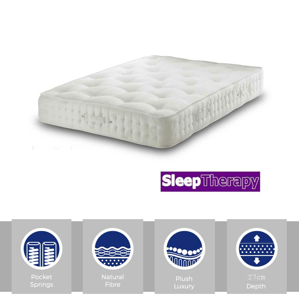 Natural Sleep Pocket 1800 Three Quarter Mattress