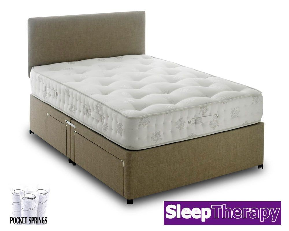 Natural Sleep Pocket 1400 Three Quarter Divan Bed