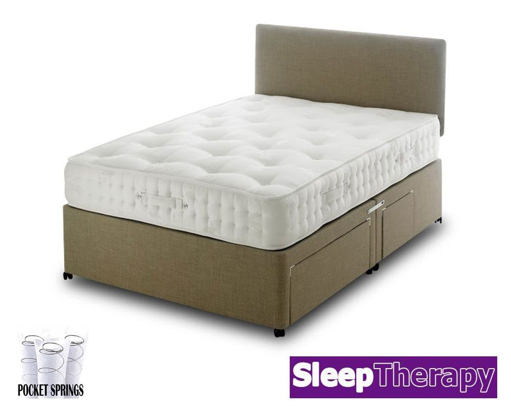 Natural Sleep 1800 Double Divan Bed