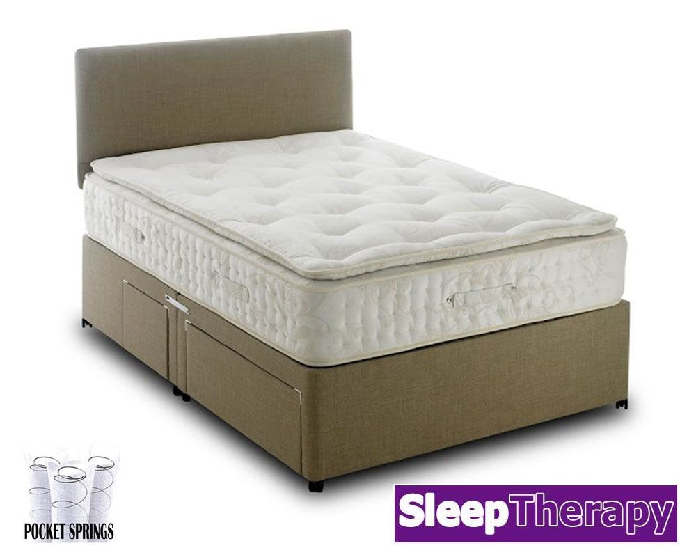Natural Sleep Pillow Pocket 2000 Double Divan Bed